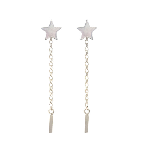 Star Chain Drop Studs | Interchangeable Drop Earrings
