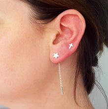Stylish Star Studs with an Interchangeable Chain Drop by Essentia By Love Lily Rose