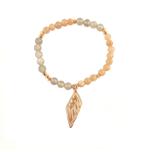 Rose Gold Native American Thunderbird Charm Bracelet
