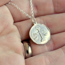 Handmade Horoscope Necklace featuring the Libra Zodiac