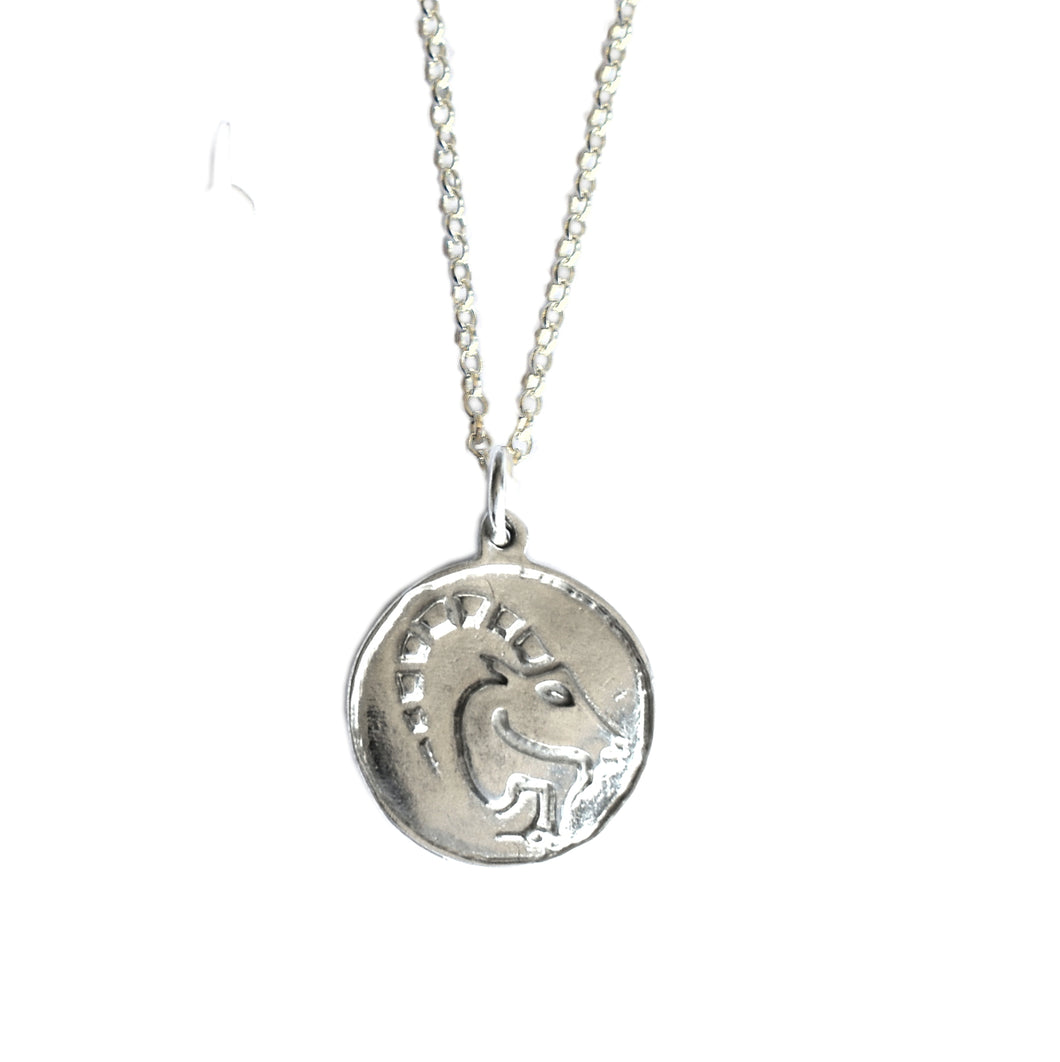 Capricorn Zodiac Necklace in Sterling Silver