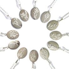 Handmade Silver Birth Flower Necklaces