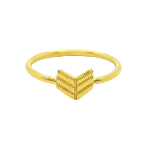 Gold Arrow Ring | 18ct Gold Vermeil Stacking Ring