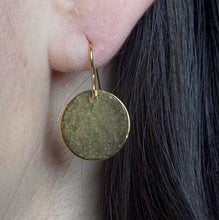 Hammered Disc Earrings | Gold Vermeil Earrings