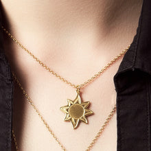18ct Gold Plated Sun Necklace for growth and new beginnings