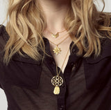 Oriana Strength Layered Necklace featuring our iconic dreamcatcher charm.