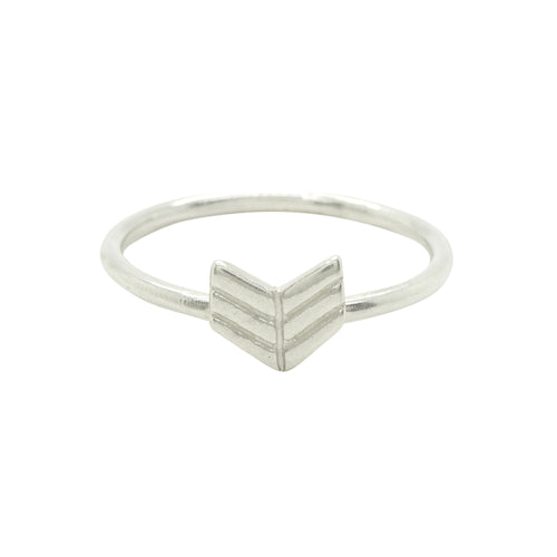 Sterling Silver Arrow Chevron Stacking Ring