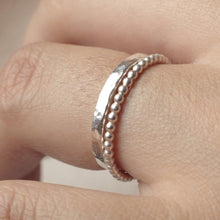 925 Silver Stacking Rings | Textured Rings