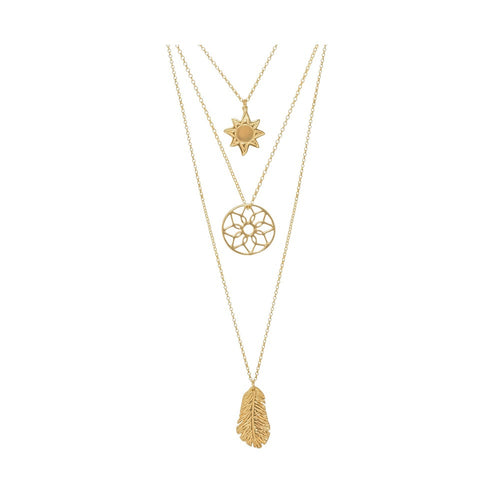 18ct Gold Vermeil Oriana Sunrise Layered Necklace
