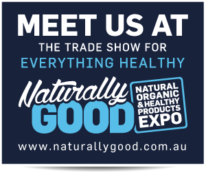 Naturally Good Expo from Sunday 4th - Monday 5th June 10am - 5pm at the ICC Darling Harbour (Stand A39)