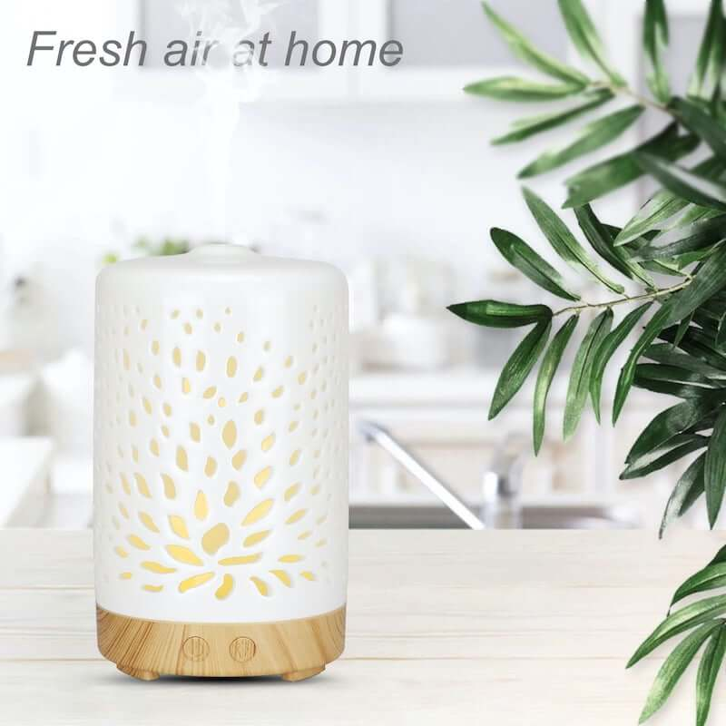 Ceramic Lotus Aromatherapy Diffuser - Light