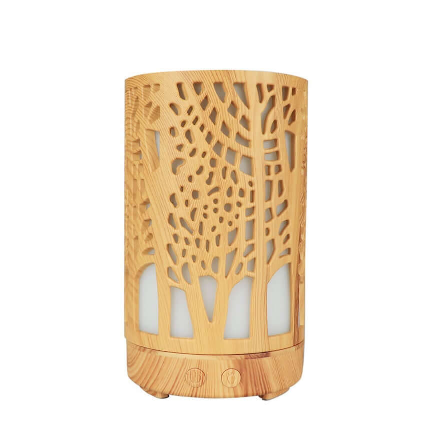 Tree of life aromatherapy diffuser light