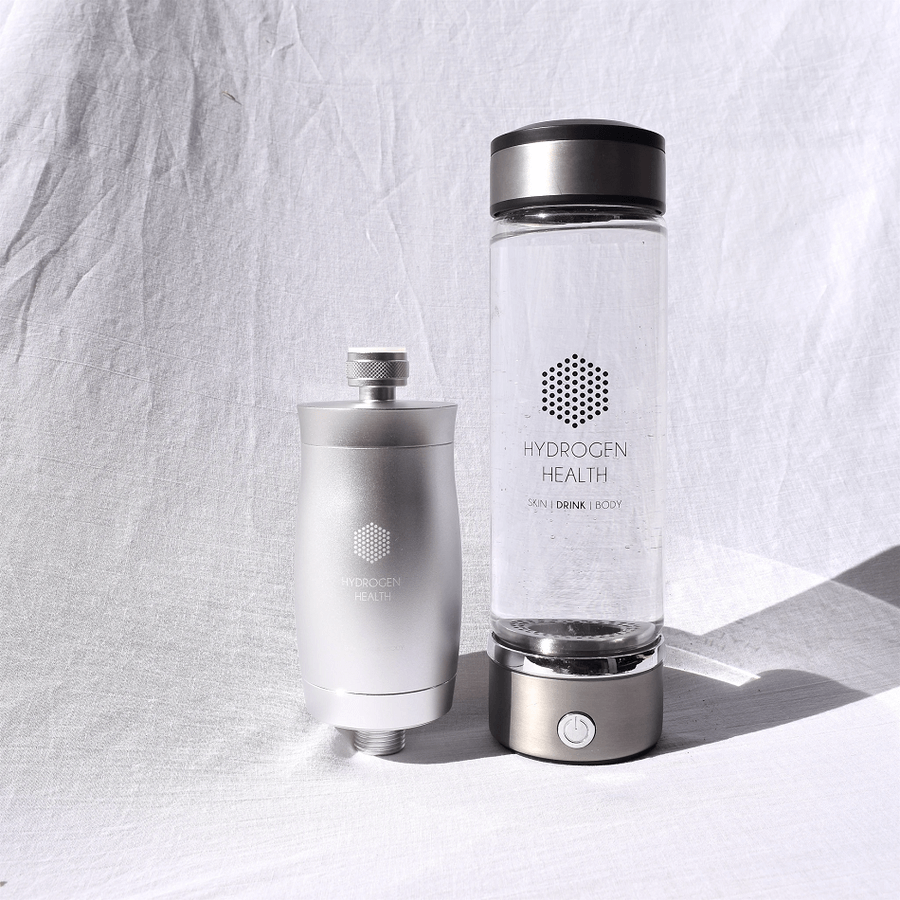 Hydrogen Health Water Bottle and Shower Filter