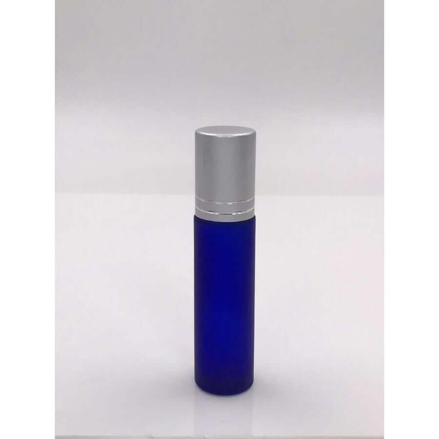Roller Bottles - Six Frosted Blue Glass