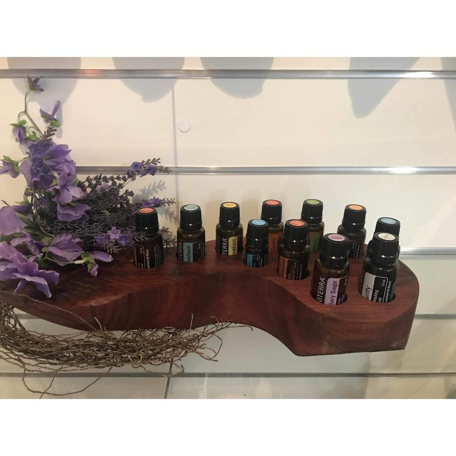 Handcrafted Red Gum Essential Oil Stands