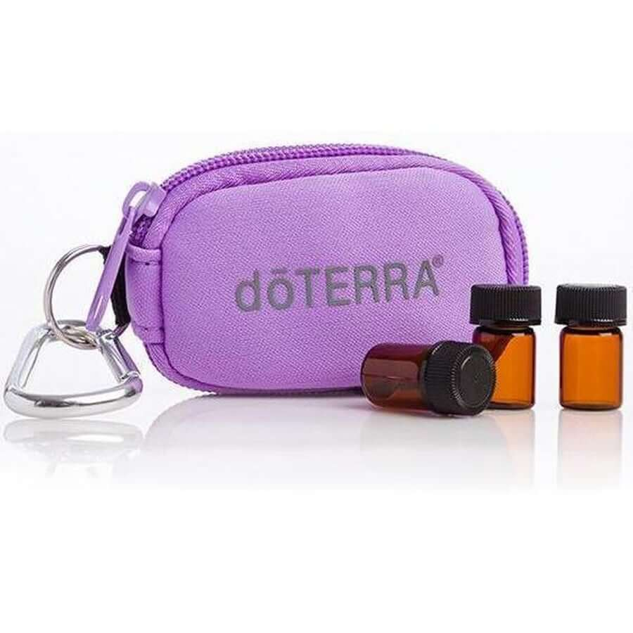 doTERRA Key Ring Purple - 8 Vial-Living Vitality Australia