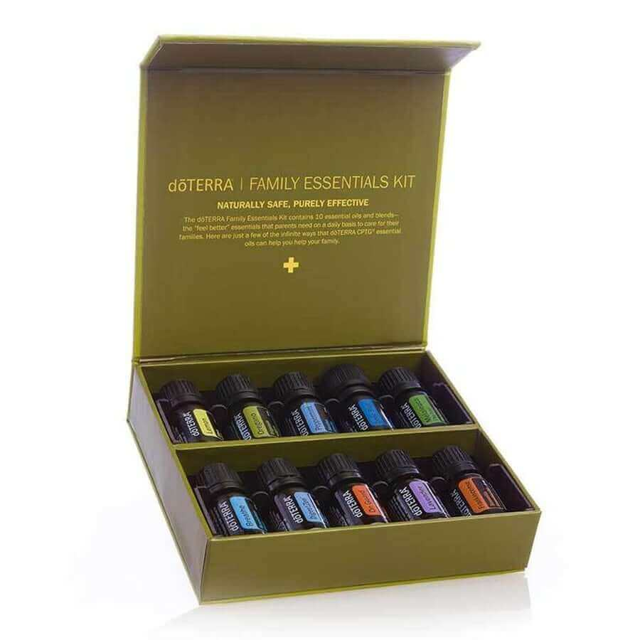 doTERRA Family Essentials Collection Kit - A variety of 10 practical multi-purpose oils to get you started on your essential oil journey-Living Vitality Australia