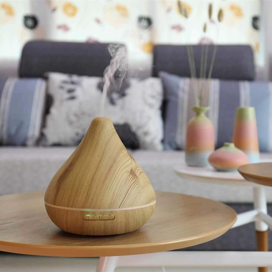 Pear Diffuser - Light Woodgrain Effect-Living Vitality Australia