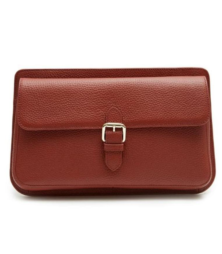 Moyet Flap Clutch (Brown) - greyortenhill