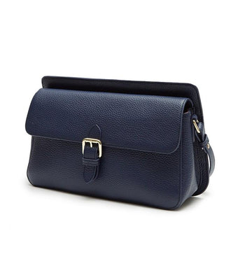 Thea Shoulder Flap Bag (Blue) - greyortenhill
