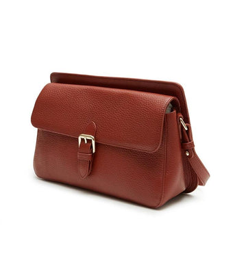 Thea Shoulder Flap Bag (Brown) - greyortenhill