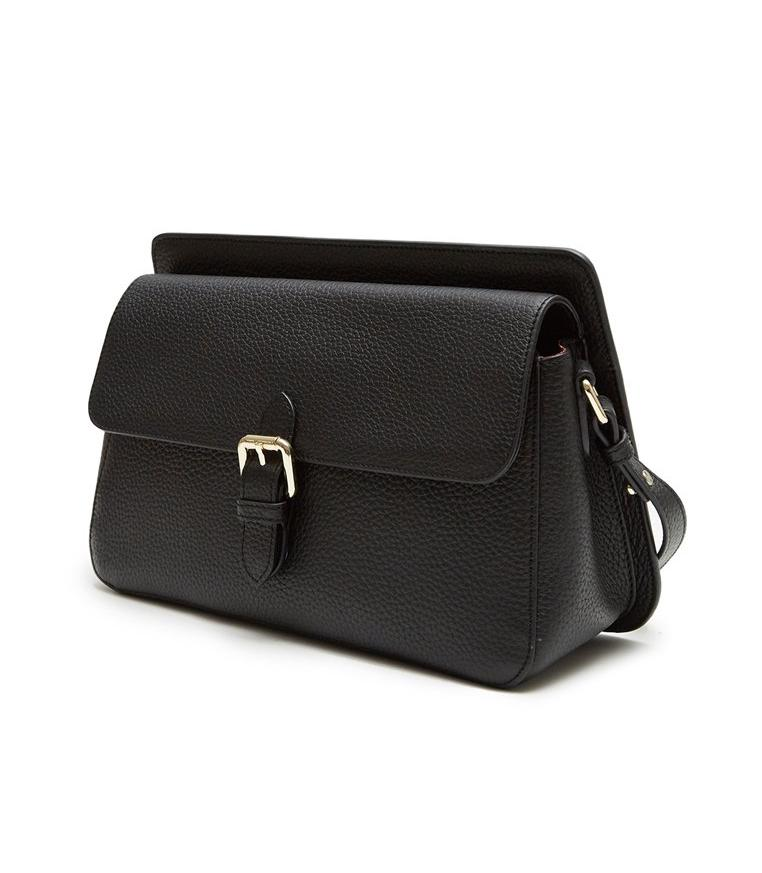 Thea Shoulder Flap Bag (Black) - greyortenhill