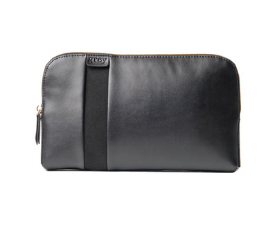 Mayden Pochette (Black Leather with Black Suede) - SOLD OUT - greyortenhill