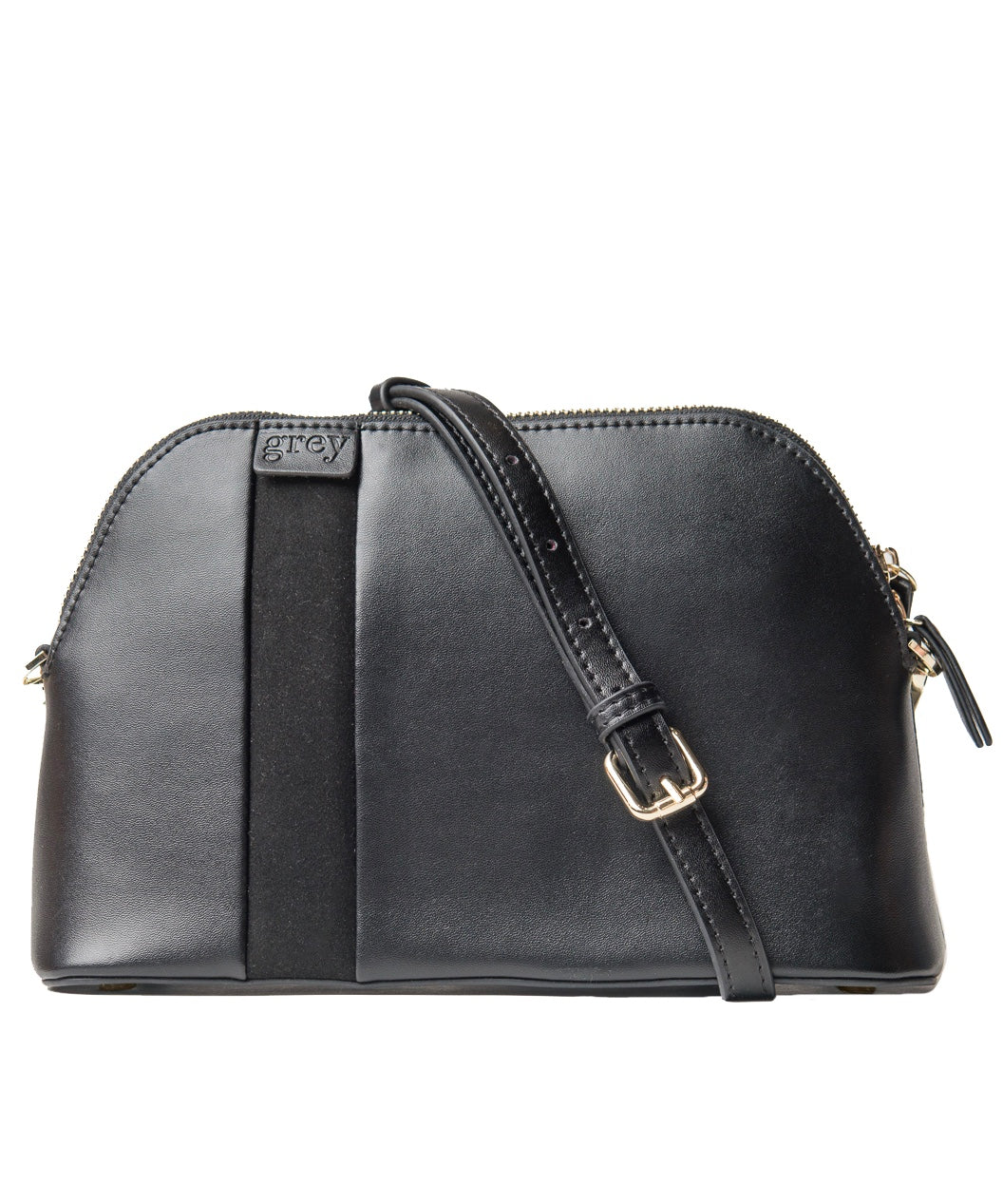 Mayden Cross Body (Black Leather with Black Suede) - Time Limited Sale! - greyortenhill