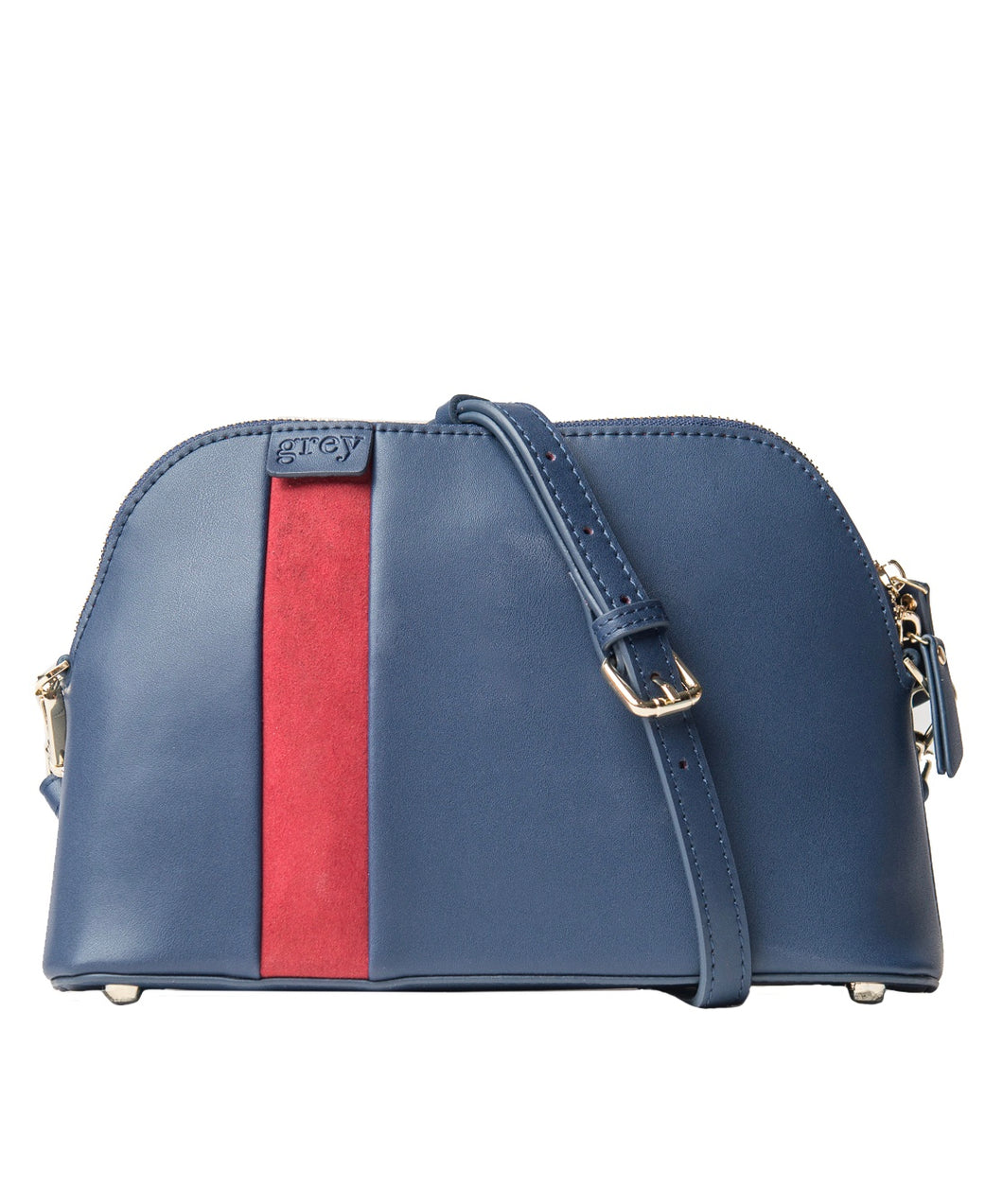 Mayden Cross Body (Blue Leather with Red Suede) - Time Limited Sale! - greyortenhill