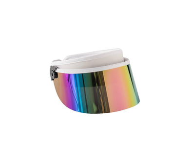 Grey+ Visor White (Half Rainbow)