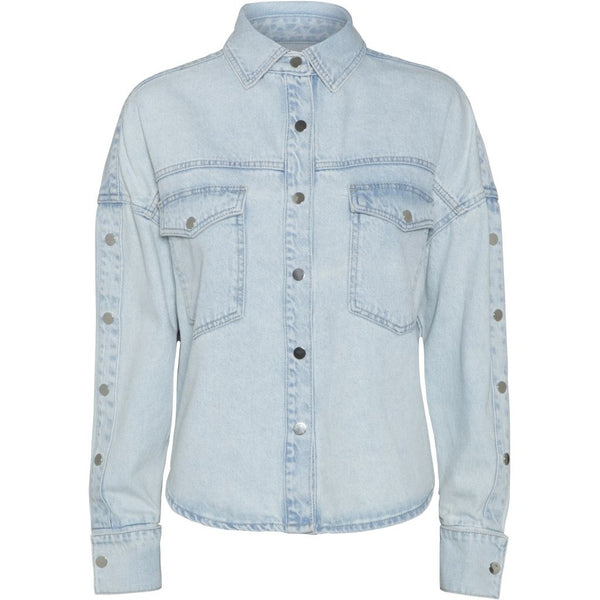 NORR Elanor denim Shirt Shirt Light blue