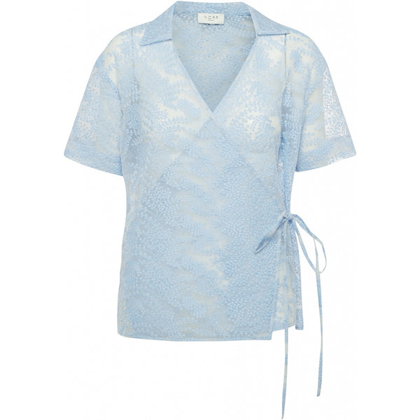 NORR Leaf top Skjorter og bluser Light blue