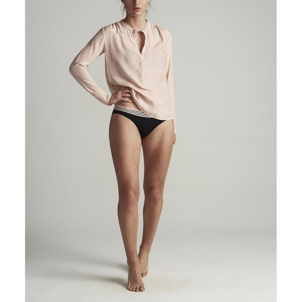Lulus drawer lounge Lulus Drawer Anna skjorte 100% silke Shirt Blush