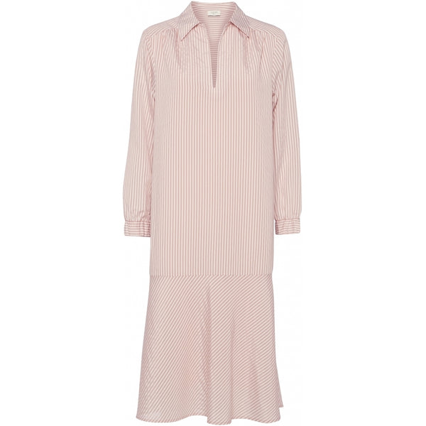 NORR Madera kjole Dress White with rose stripe