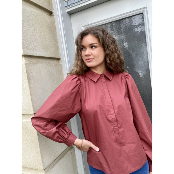 Just Female Tulina blouse Skjorter og bluser Sephia rose