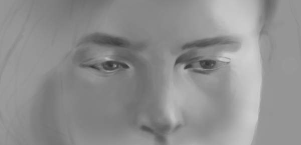 Digital portrait painting second try! - Timelapse Video
