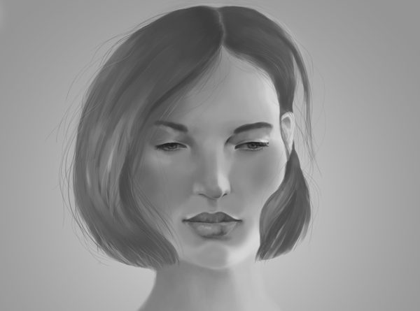 Digital portrait painting second try! - Part II.