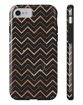 Gold Chevron Pattern Dark Edition All US Phone cases