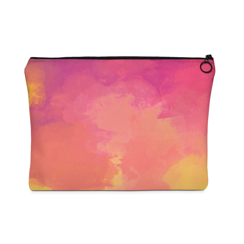 Pastel Sky Peach Edition Carry All Pouch - Flat