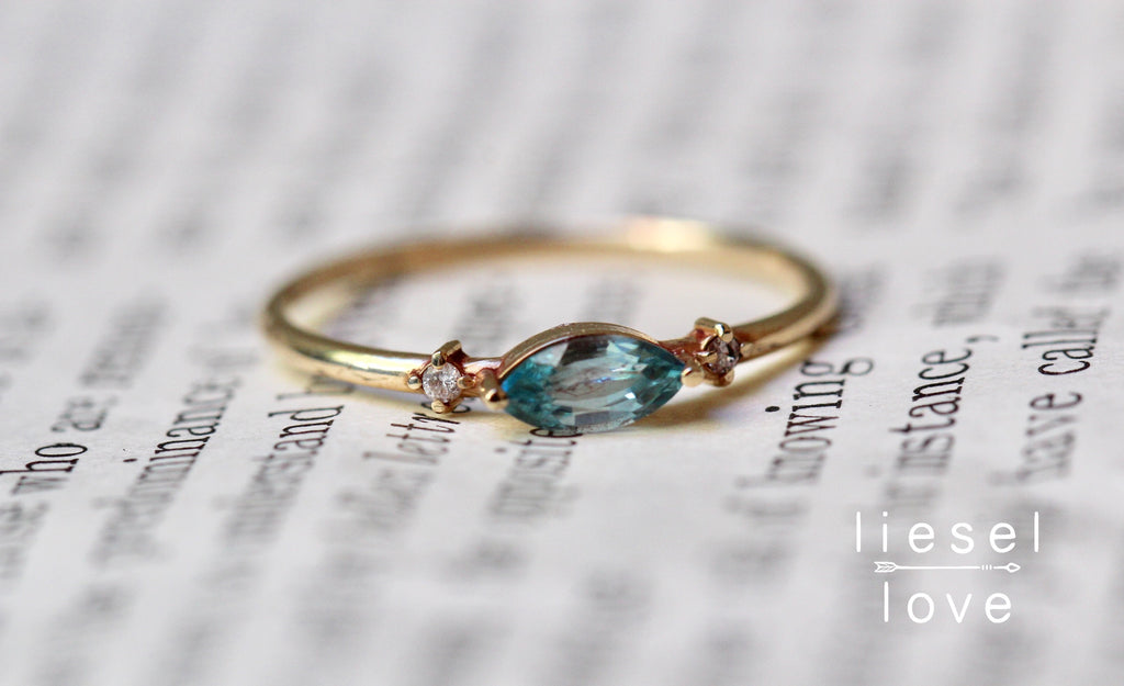 Shimmer Ring (Blue Zircon)
