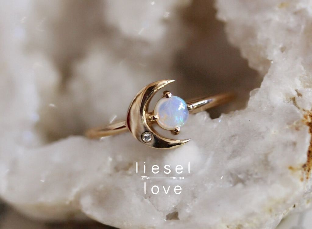 Moon of My Life Ring (Opal)