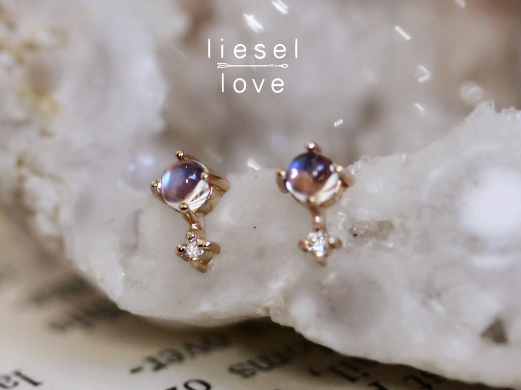 Love Drop Earrings (Moonstone)