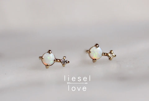 Love Drop Earrings (Opal)