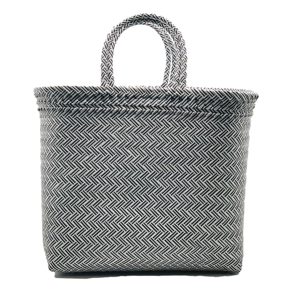 "Black ""Herringbone Shopper"""