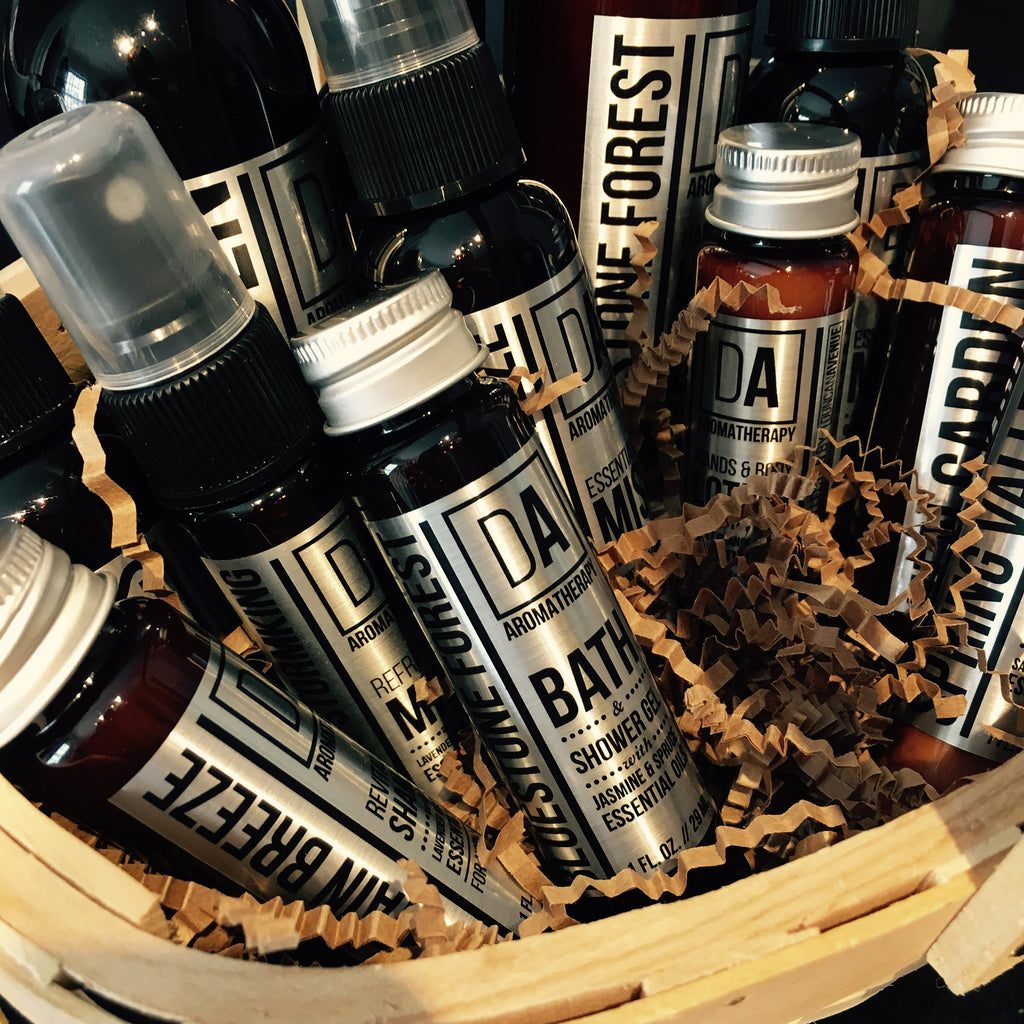 Gift Basket Ideas with DA Aromatherapy Collection