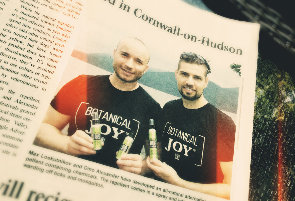 DA Aromatherapy's founders Max & Dino were featured in The Cornwall Local Newspaper
