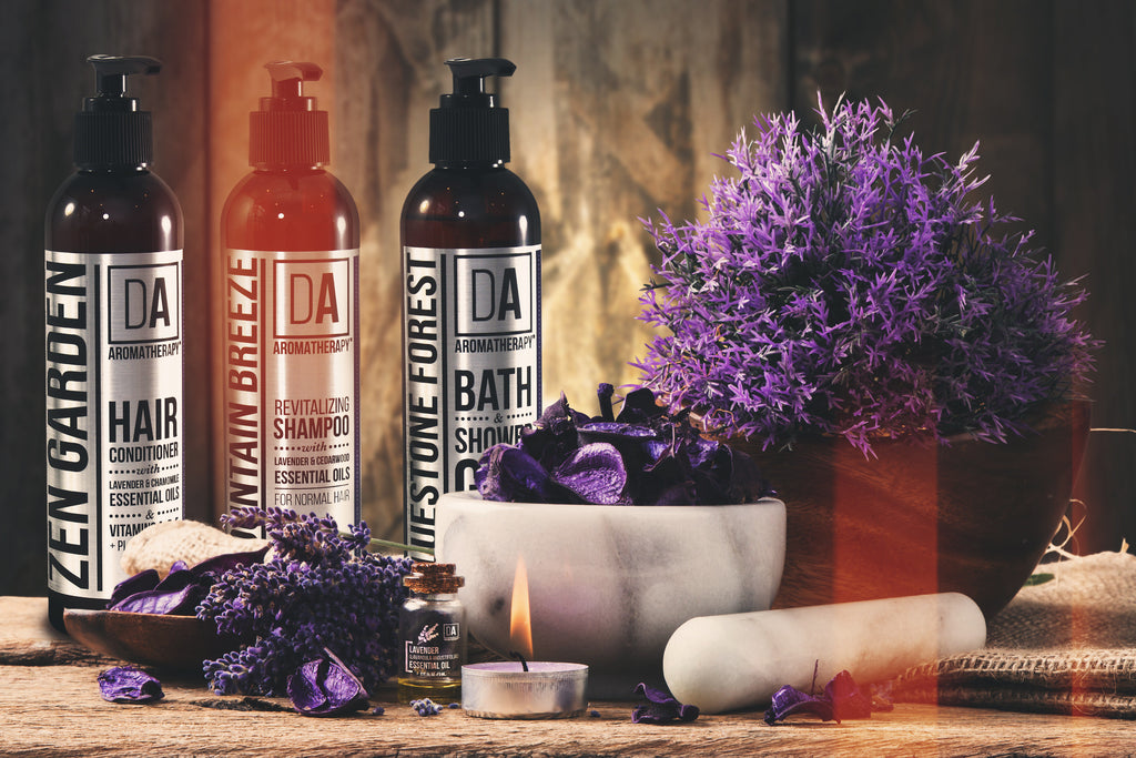 Create an Organically Fragrant™ Spa Shower Experience with DA Aromatherapy Collection