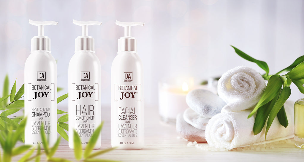 Botanical Joy™ is DA Aromatherapy's premium sulfates-free, paraben-free, natural product line with plant-derived ingredients and organic essential oils.