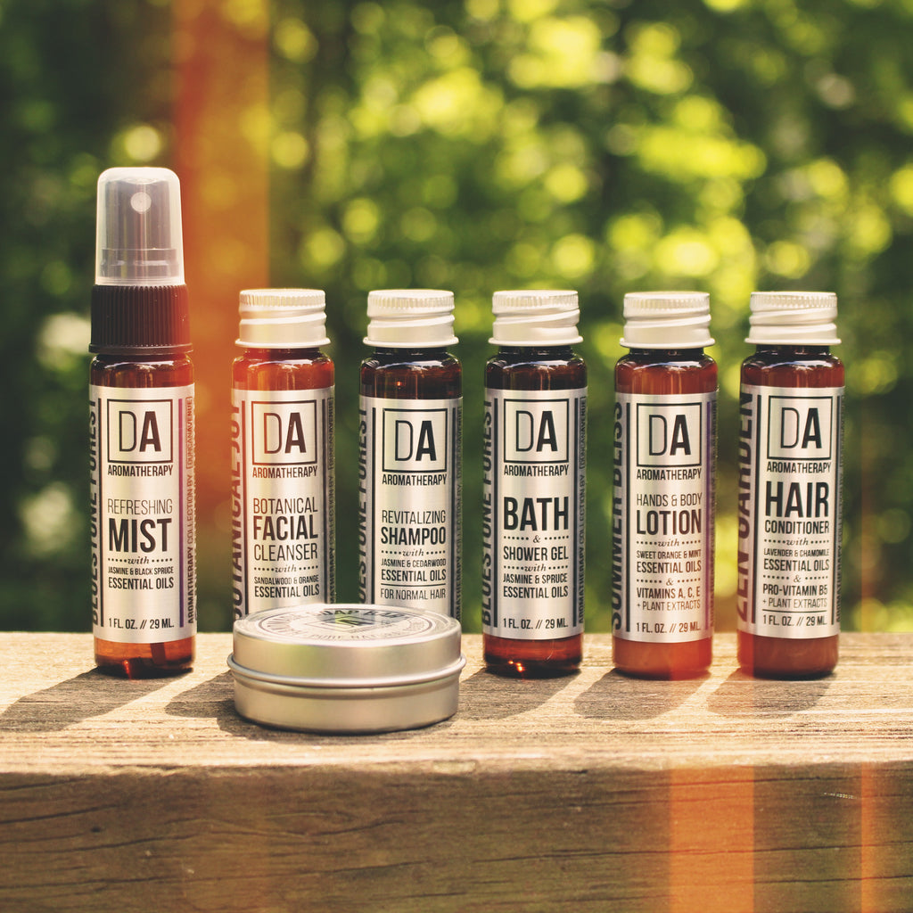 DA Aromatherapy Collection provides natural hotel amenities with organic essential oils made in Hudson Valley, New York.