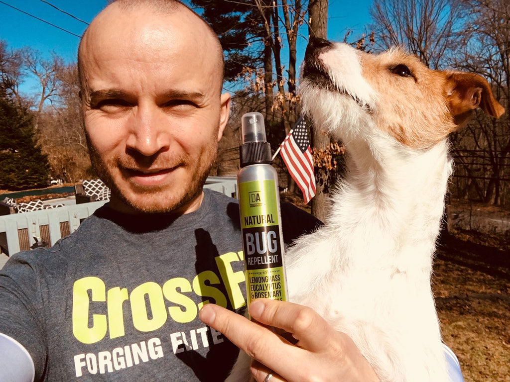 Woodland Trails Natural Bug (Tick and Mosquito) Repellent by DA Aromatherapy Collection is the best natural made in the USA tick & mosquito repellent for humans and pets!
